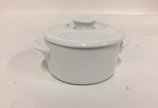 mini cocotte blanche Ø 10 cm