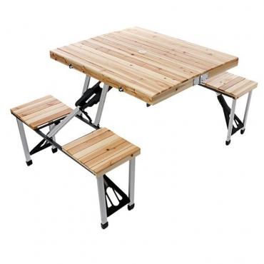 Table Valise Pique Nique En Bois