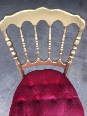 chaise napoléon or / rouge 3 eme Choix.