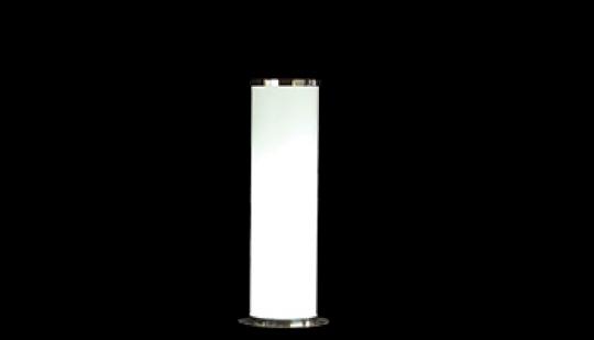luminaire colonne krome 106cm d20  220V