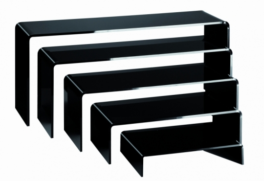 rehausses Gigognes Plexi noir, set de 5 réhausses