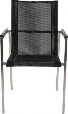 chaise villa noir accoudoirs