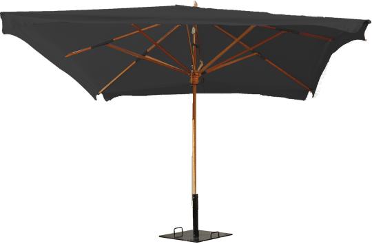 parasol 3mx3m noire