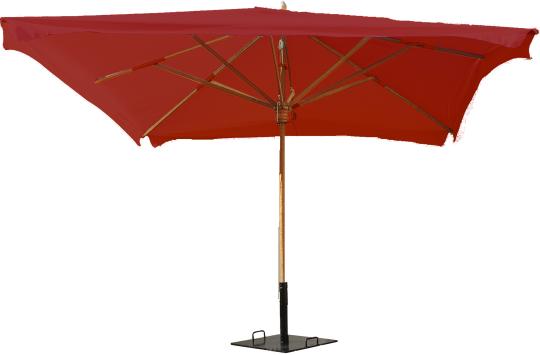 parasol 3mx3m bordeaux