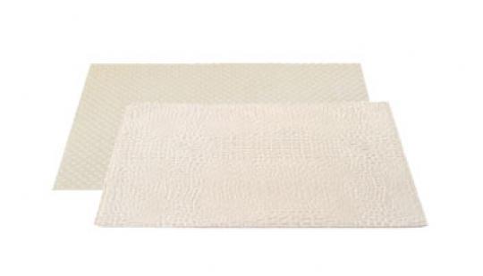 set cuir capitonné blanc/croco blanc