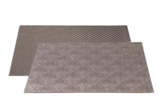 set cuir capitonné gris/lin gris taupe