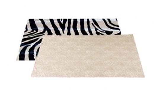 set cuir zebre/lin beige