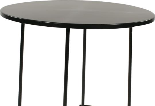 tiketac table noire H75 Ø90cm - 4 pers