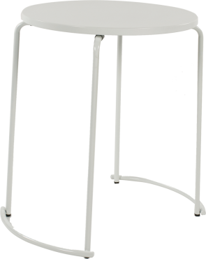 tiketac table blanche  H75 Ø60cm - 2 pers
