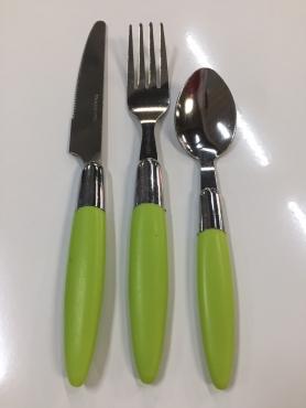 set de 3 pieces stainless steel vert