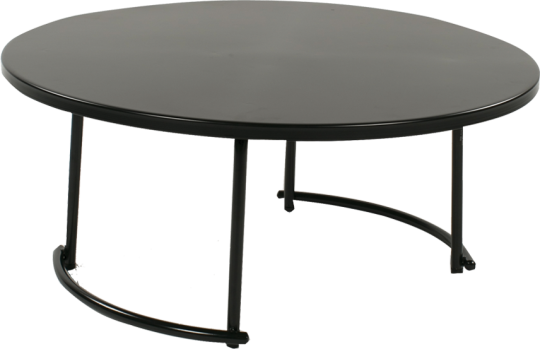 tiketac table basse noire H35 Ø 90