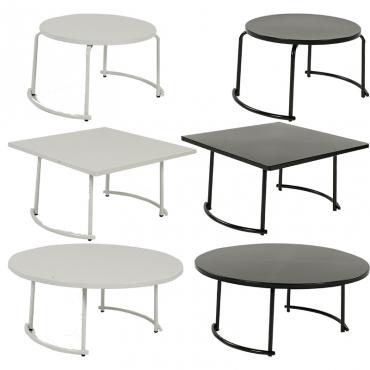 tiketac table basse noire H35 70x70