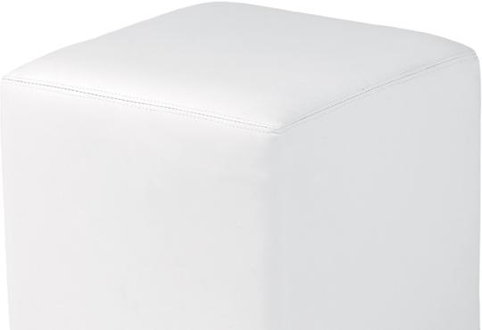 pouf carré 40  blanc