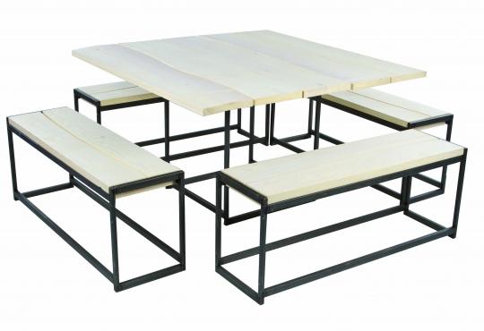 table deko wood 135x135 H 74