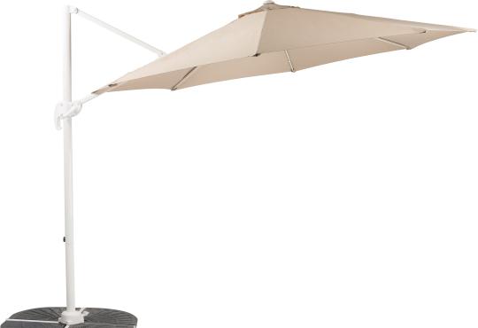 Parasol déporté SUNSET  Sable Ø 3 m + 4 gueuzes