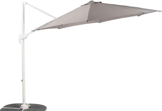 Parasol déporté SUNSET  Gris Ø 3 m + 4 gueuzes