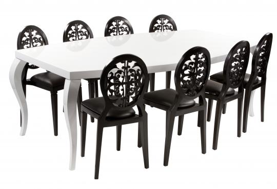 table baroque 220*130 pieds courbe