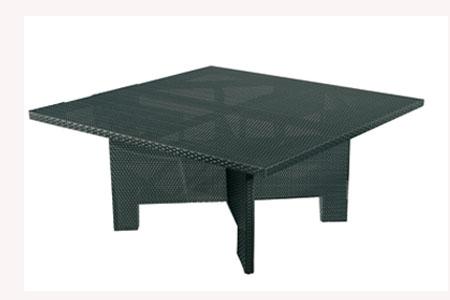 table tressé 160x160 LOUNGE H.63