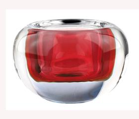 photophore boule D9.5 H6 rouge