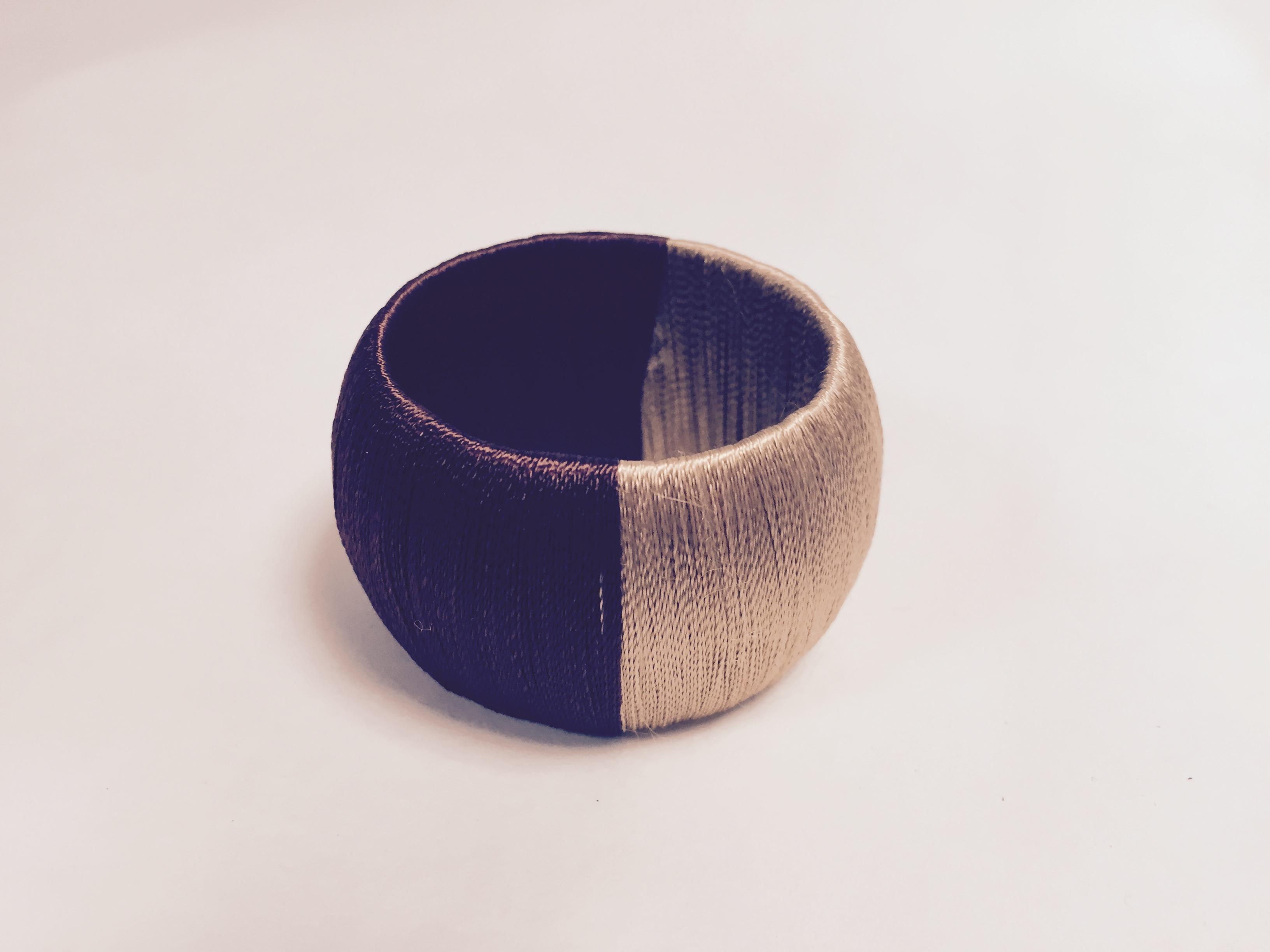 rond serviette fil chocolat / praline