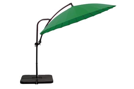 parasol déporté Ø 280 vert + 4 gueuzes