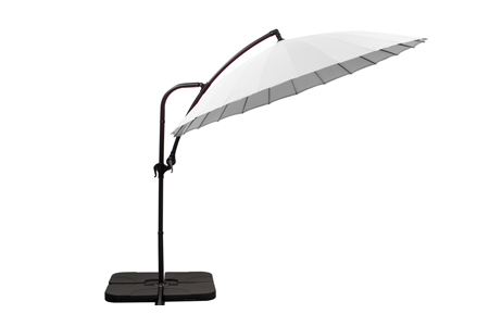parasol déporté Ø 280 blanc