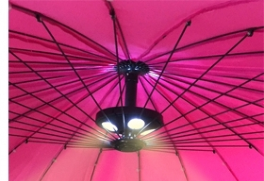 éclairage pour parasol