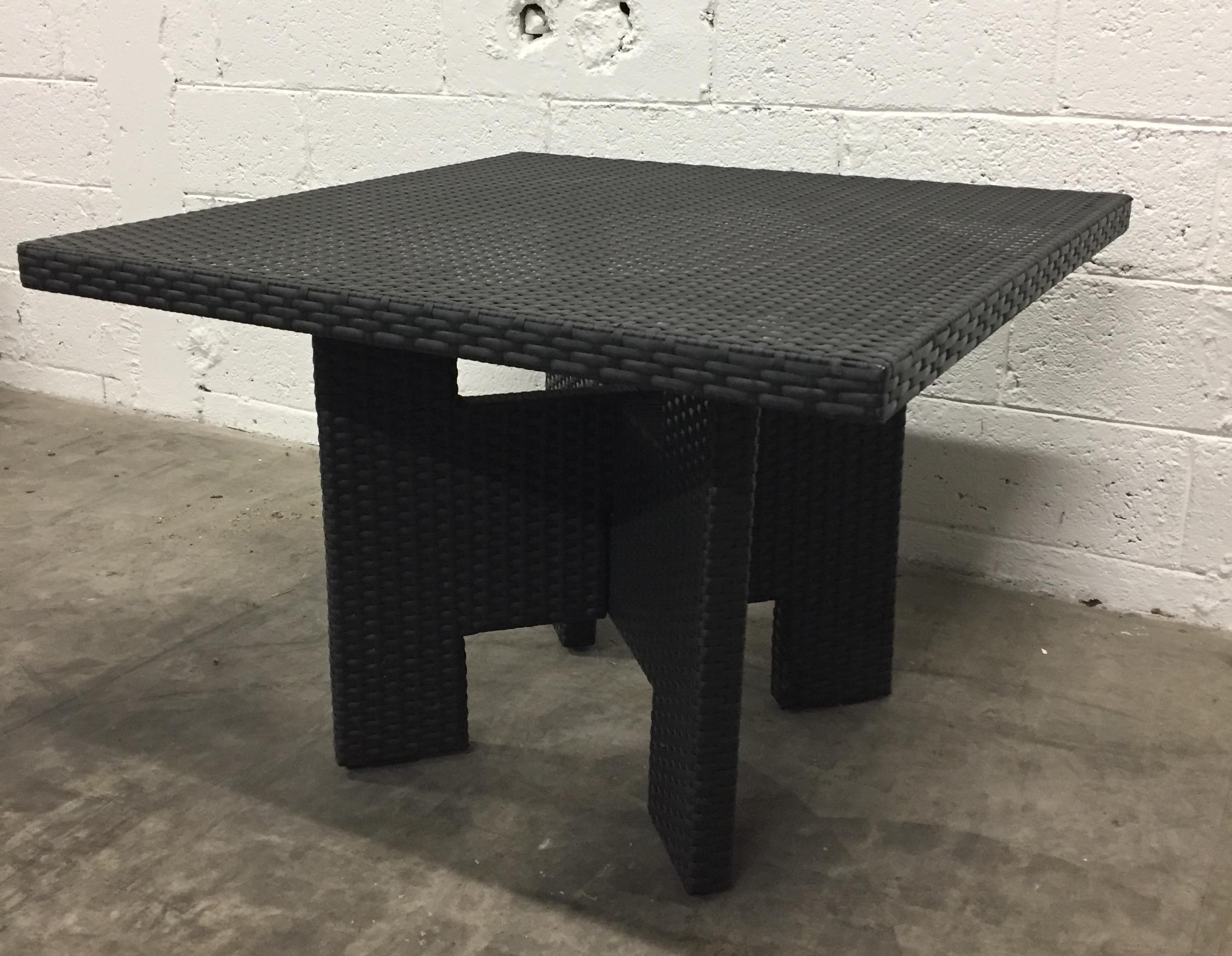 table tresse LOUNGE 90x90 H.63cm