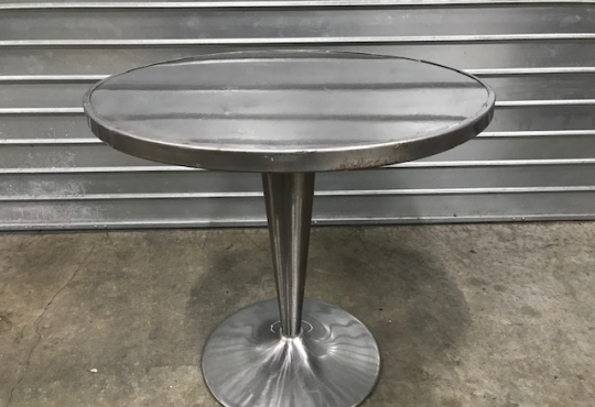 gunmetal table solo dia80 H 72