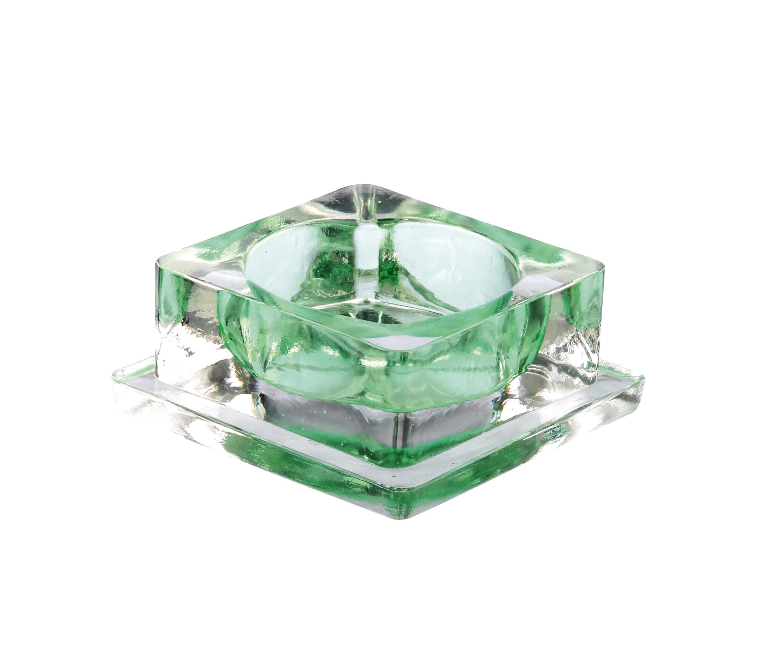 photophore carré 6x6 h2.5 vert
