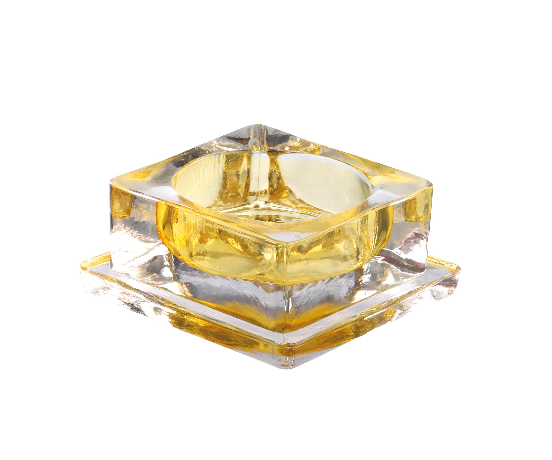 photophore carré 6x6 h2.5 ambre