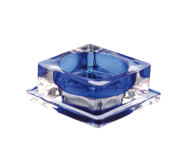photophore carré 6x6 h2.5 bleu