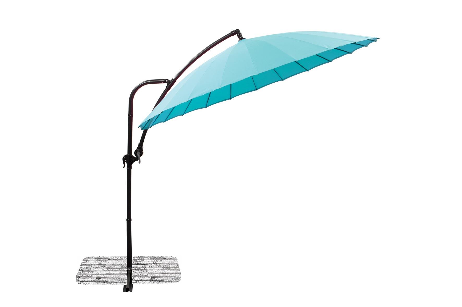 parasol déporté Ø 280 bleu azur