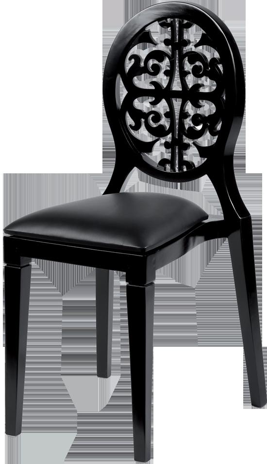 chaise arabesk noire assise noir