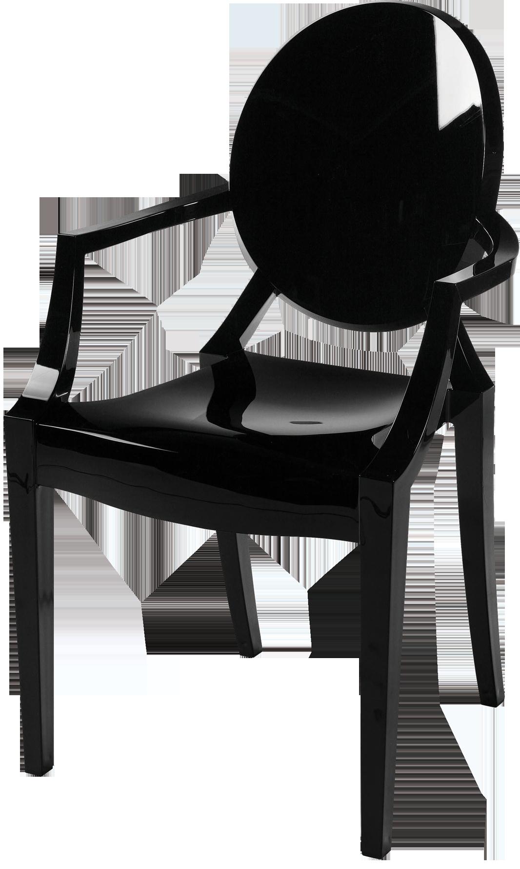 fauteuil louis le ghost noir