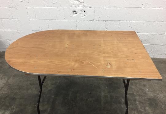 table 1/2 ovale 100 L150  h 74cm