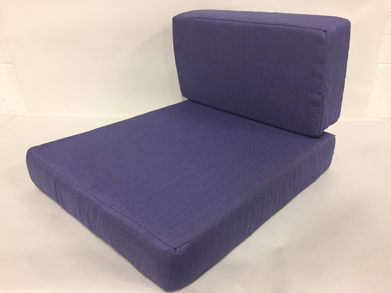 coussin fauteuil lavande assise +dos