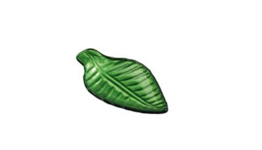 ass mini  feuille 8x14 cm vert métallic