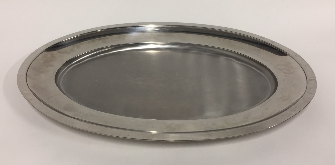 plat inox ovale 60 x 27