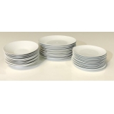 Assiettes Mosaic white