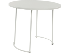 tiketac table blanche  H75 Ø90cm - 4 pers