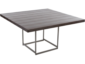table deko croco marron 135x135 H74