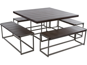 ensemble deko croco marron table + 4 bancs