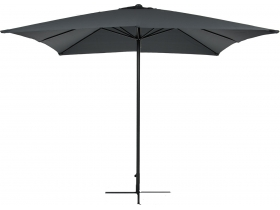 parasol bellagio 3mx3m gris anthr + pied en croix