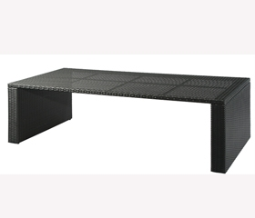 table tressé LOUNGE 180x90 h.63