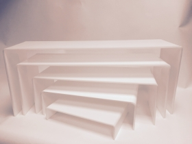 rehausses Gigognes Plexi blanc, set de 5 rehausses
