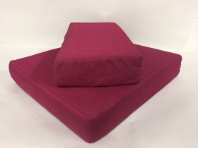 coussin fauteuil fuschia assise + dos